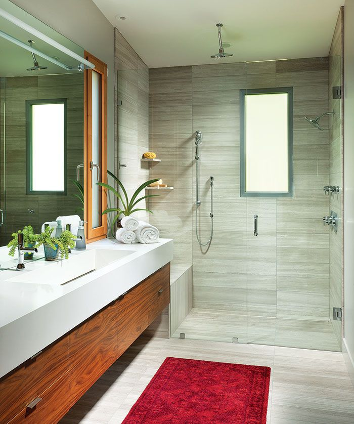 bathroom designs bathroom designs%0A Beautiful summer retreat designed by Mindful Designs  located at Lake  Blaine  Montana  United States