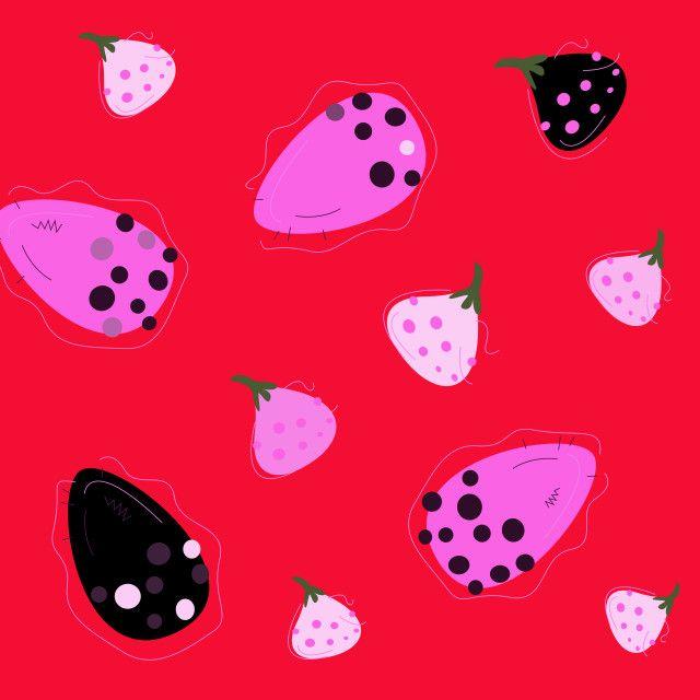 'Wild exotic Figs original Art illustration Red' on Picfair.com