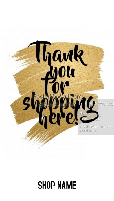 Thank You For Shopping Card Business Ideas Pinterest Cards