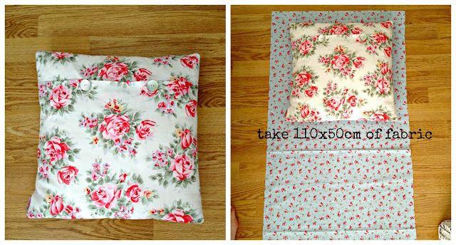 DIY easy sew cushion tutorial: