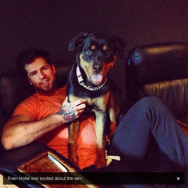 """During Washington's first-round playoff match-up with the Rangers, Capitals defenceman Mike Green @GreenLife52 tweeted this:  """"Even Mollie was excited about the win!"""""""