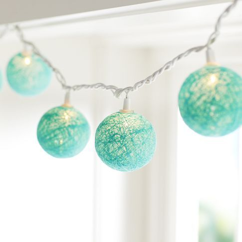 Woven Globe String Lights | PBteen