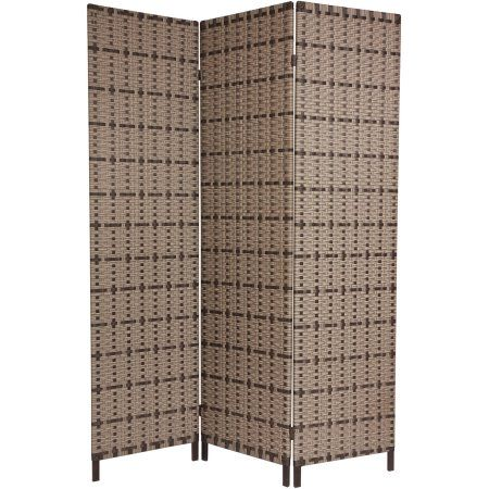 6' Tall Tropical Outdoor Screen, Beige