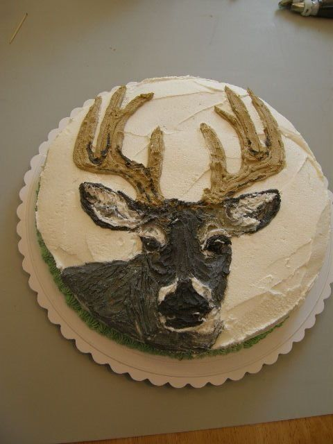 little sign for a hunting cake | my 1st deer cake for a little boys birthday he loved it looks funny to ...