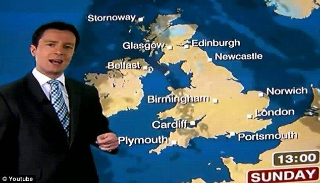 """WHOOPS - HOW UNBRITISH... """"Moment BBC weather forecaster predicted 'bucket loads of c***' over Britain rather than 'bucket loads of sunshine'"""""""
