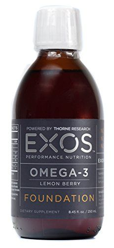 EXOS Performance Nutrition - Omega-3 Liquid Fish Oil - Lemon Berry - High Concentration of EPA - NSF Certified for Sport® - 50 Servings * For more information, visit image link.