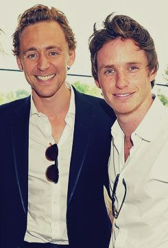 Eddie Redmayne and Tom Hiddleston in one picture? Can you hear the ladies scream? Screaming for both of these gentleman.