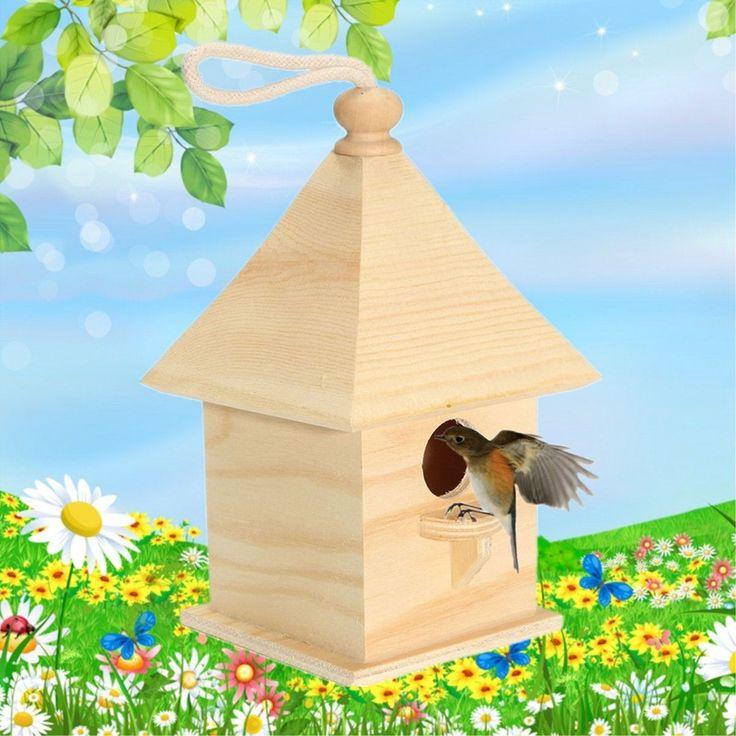 Wood Birds Nest Box Breeding Parrot Munia Cockatiels Swallows Nest Outdoors Roof Wooden Bird House Garden Outdoor Decor // FREE Shipping //     Get it here ---> https://thepetscastle.com/wood-birds-nest-box-breeding-parrot-munia-cockatiels-swallows-nest-outdoors-roof-wooden-bird-house-garden-outdoor-decor/    #pet #animals #animal #dog #cute #cats #cat