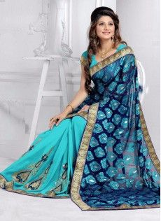 blue and orange sari - Google Search