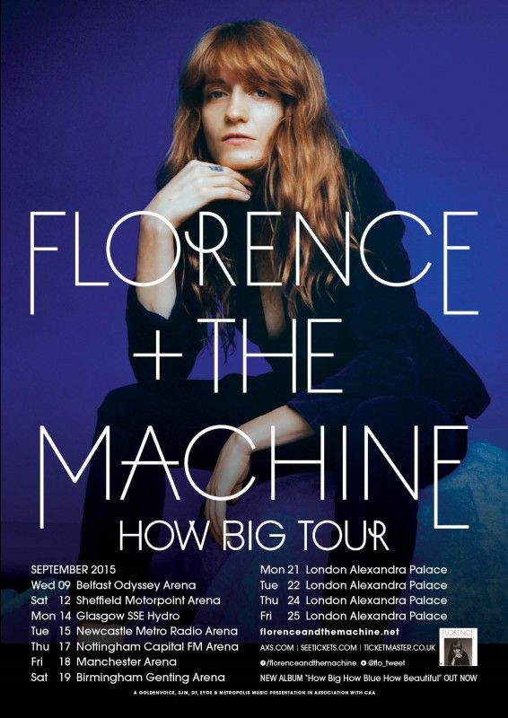 #Florence + #The #Machine are gearing up to return with massive third album, How Big, How Blue, How Beautiful – and will be hitting the road to celebrate with a 12 date UK and Ireland tour, taking in four nights at the iconic Alexandra Palace in London. Click here for tickets: www.axs.com