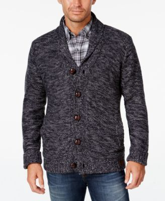 Finish your casual look in classic style with this lined cardigan from Weatherproof Vintage, featuring marled fabric that freshens a traditional design. | Acrylic; lining: polyester | Dry clean | Impo
