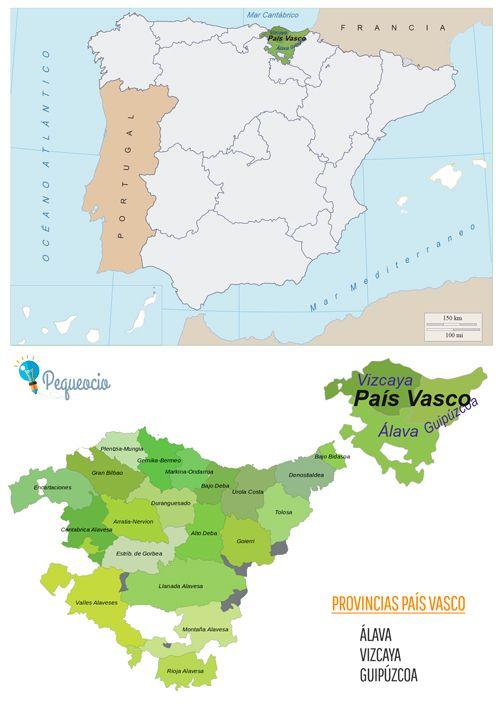 Mapa De Pais Vasco Por Provincias.Mapa De Comunidades Autonomas Para Imprimir Mapa De Espana