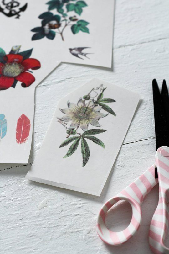 Homemade Christmas Gift Idea: Make Custom Temporary Tattoos – #Cust …