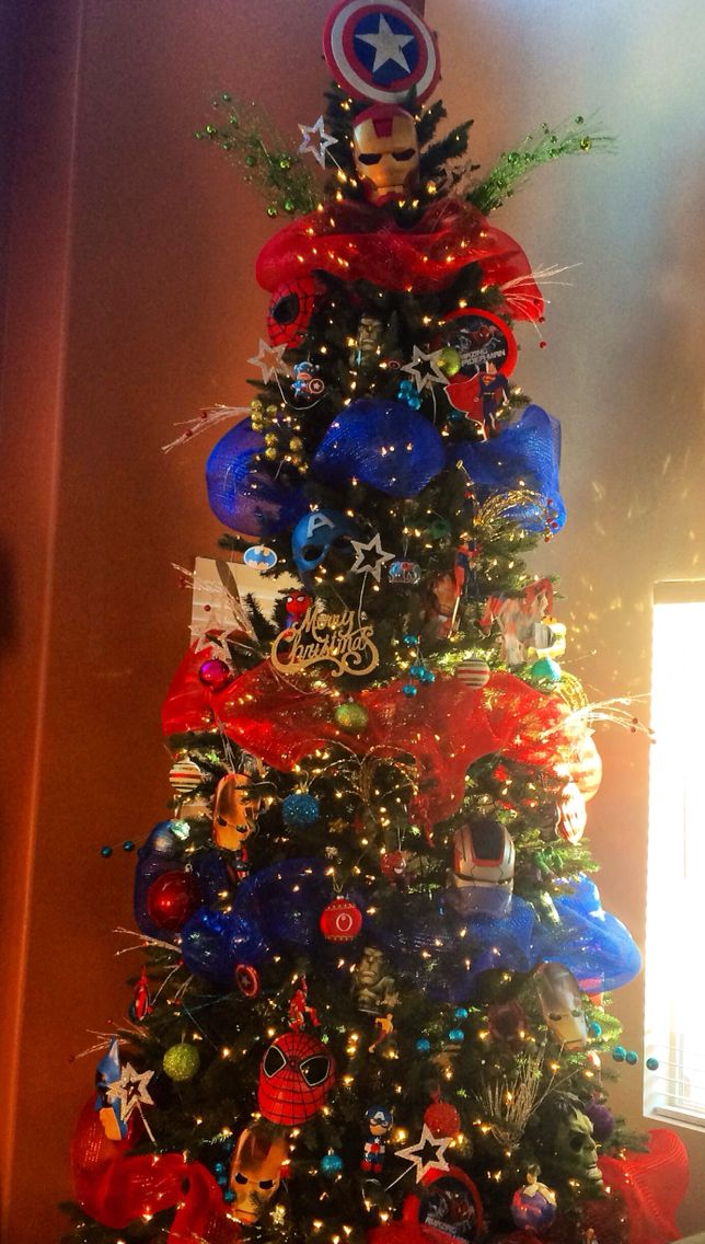 Superhero's Christmas Tree 2014. #Marvel #DC