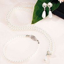 White Pearls with Pearl Drop