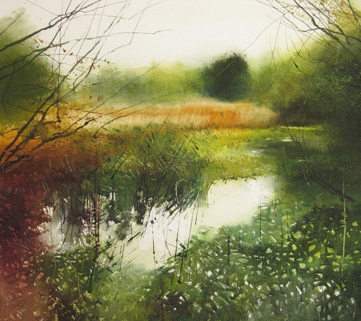 David Parfitt RI - Artists - Bowlish Contemporary Gallery #watercolor jd