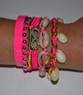 Hippe schelpen armband met magnetische sluiting http://deschelpenshop.nl