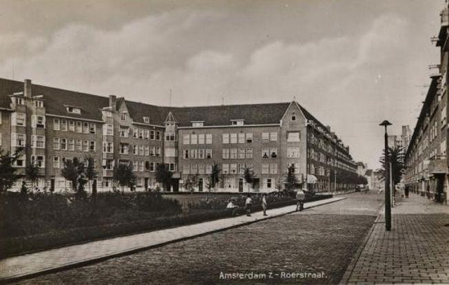 Roerstraat Prentbriefkaarten van Amsterdam Zuid - Plan Zuid