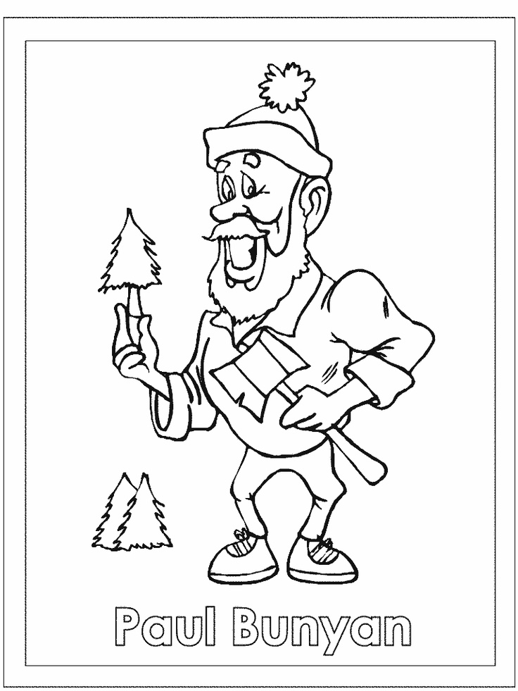 Paul bunyan coloring pages activities