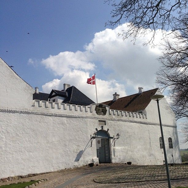 The gate of the 800 years old Dragsholm Castle. Located in Odsherred Denmark.