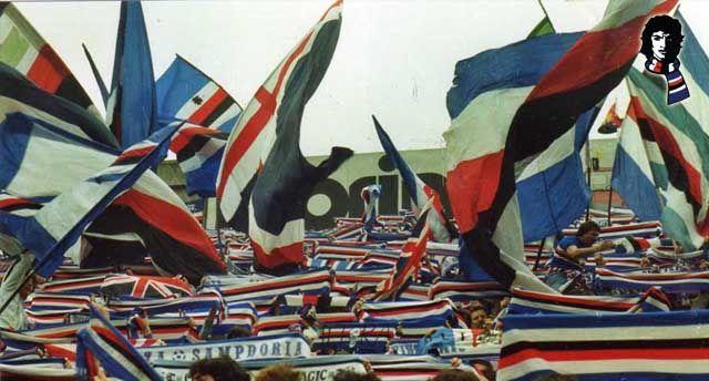 La gradinata sud. Derby Sampdoria 28 Novembre 1982