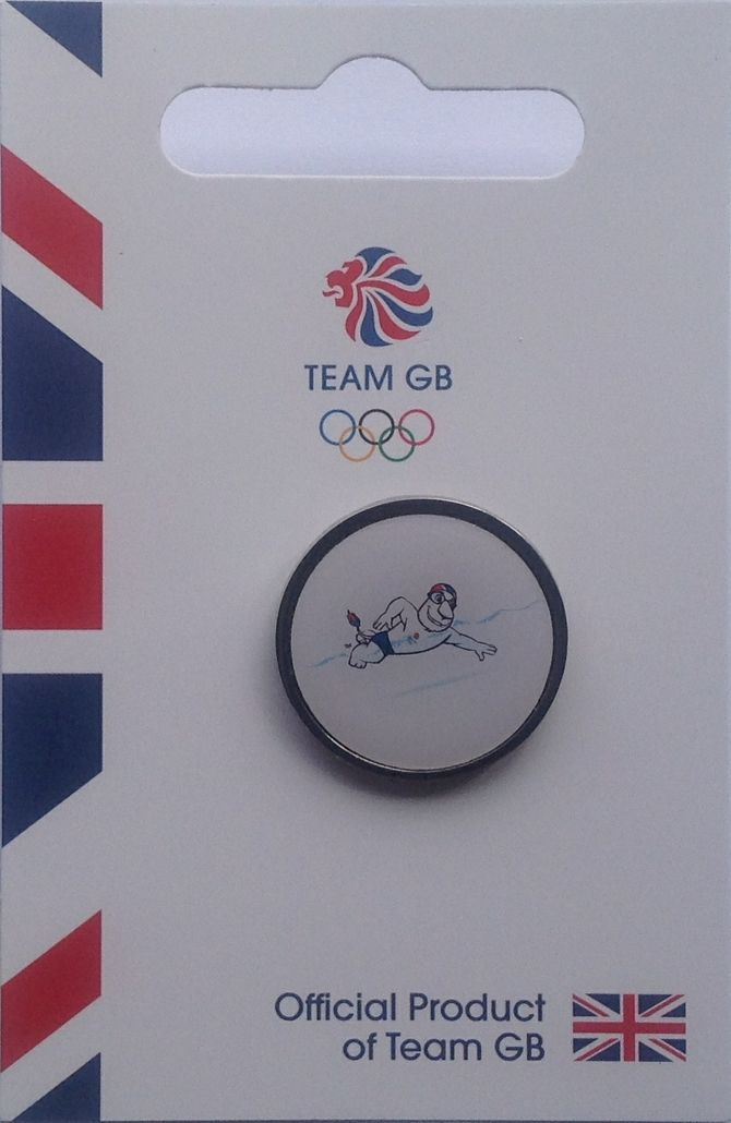 Official TeamGB Swimming Pictogram Pin