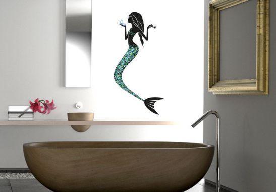 Wandtattoo - Wandtattoo Meerjungfrau 01