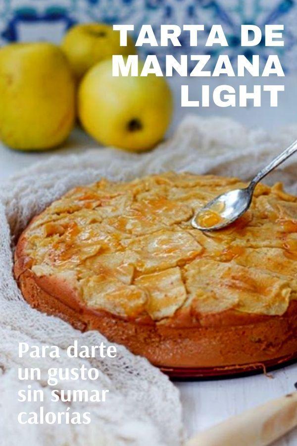 Tarta De Manzana Light Bajas Calorías Tarta De Manzana Light Tarta De Manzana Comida Para Diabeticos Recetas