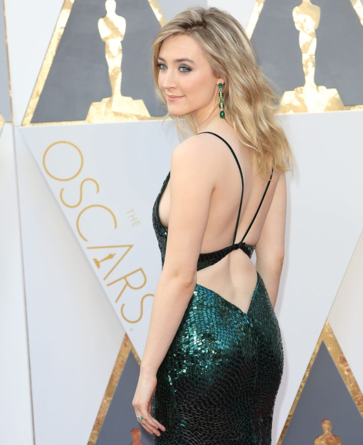 Saoirse Ronan's custom Calvin Klein Oscars 2016