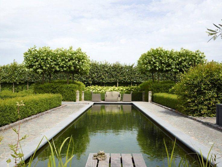 Zwemvijver in binnentuin. Project Bebouwen en Bewaren Hertsberge.