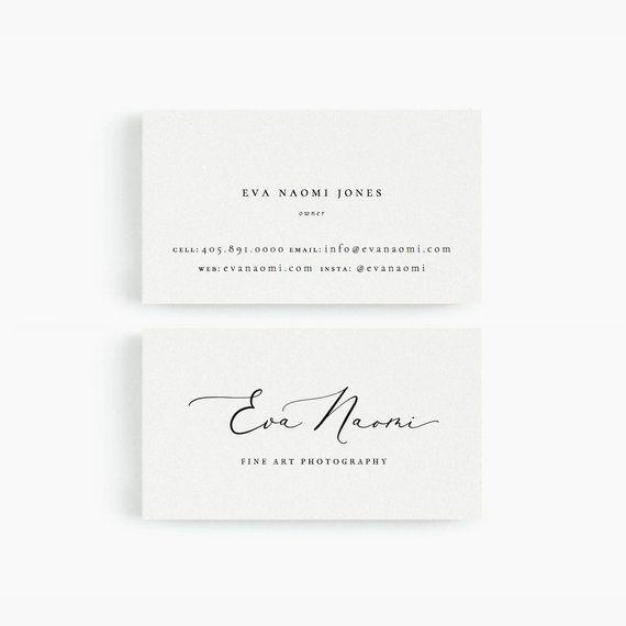 Eva Business Card Template For Google Drive Fine Art Photographer Designer Photographer Business Cards Business Card Photographer Business Card Inspiration