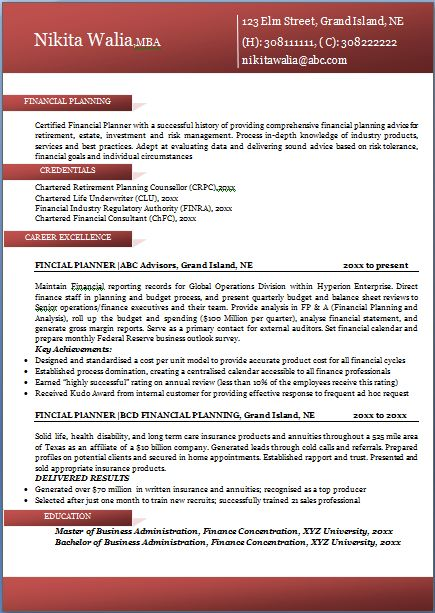 Resume Example For It Professional. Professional Resume Format How