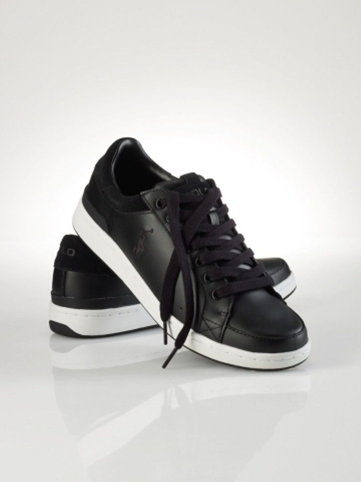 Ralph Lauren Polo Black Casual Leather Shoes