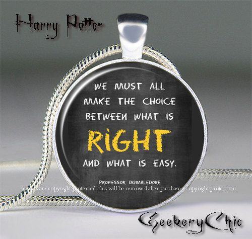 9 best quote pendants images on pinterest doctor who necklace harry potter what is right or easy quote pendant by silverrapture 1000 mozeypictures Images