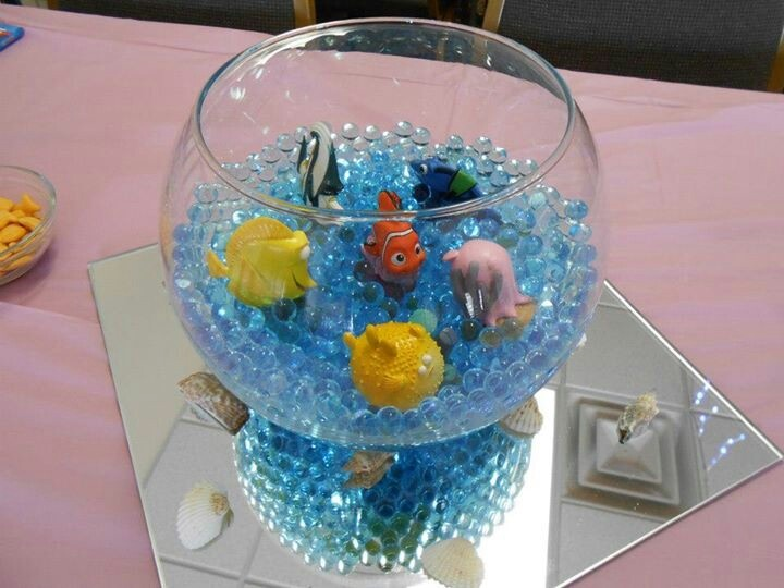 Easy Centerpieces For Finding Nemo Baby Shower