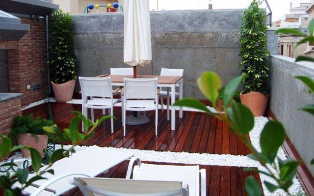 Decoraci n de terrazas peque as con plantas para m s - Decorar terrazas pequenas ...