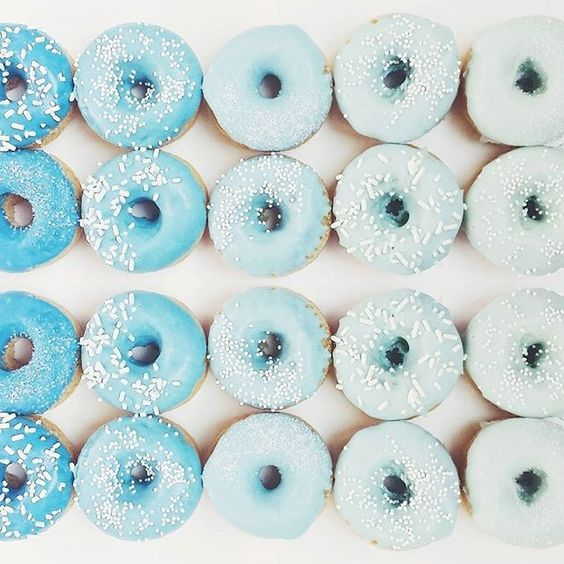 Gradient Blue Donuts! Baby Shower | Blue Paint | Blue Makeup | Fashion | Blue Wallpaper | Sea | Blue Sky | Flowers | Blue Water | Pastel | Color | Texture | Sand | White Sea | Seashells | White Sandy Beach | Summer Time | White Beach Summer Cake | Surf Boards | Palm Trees | Summer Blue Color | Blue Color Outfit | Blue Color Wallpaper | Blue Color Scheme | Blue Color | Fashion | Blue Color Flowers | Blue Color Nails | Blue Color Hair | Blue Color Interiors | Maternity Inspiration | Style…