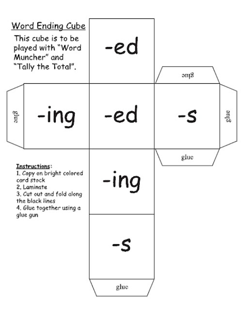 Inflected Endings dealing with Plurals. This is a really neat game that I would love to print out to have in my classroom one day.