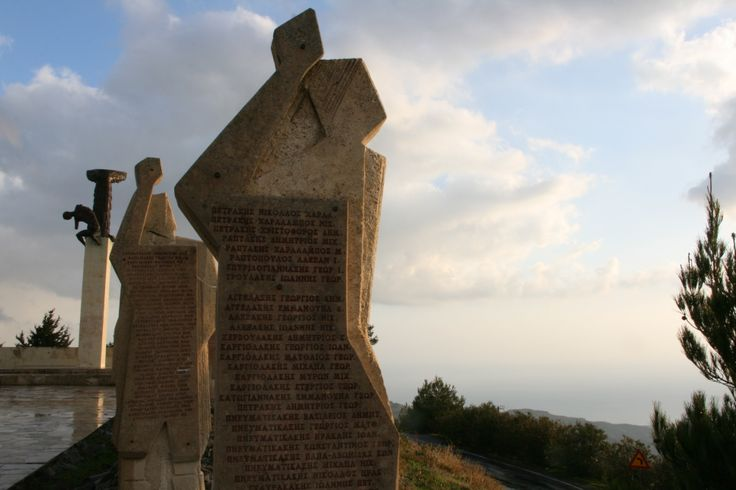 Viannos - Monument of executed people by Germans during the second world war