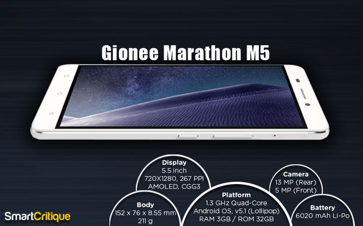 Gionee Marathon M5 launched in India lately at INR 17,999. Smart Critique takes a quick look at the basic specifications of this device.