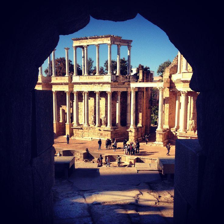 Teatro romano de Mérida, España.