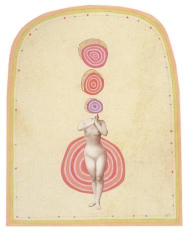 "Saatchi Art Artist Athena Petra Tasiopoulos; Collage, ""Cycles"" #art"