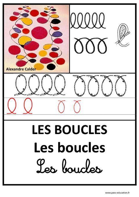 Boucles – Graphisme – Affichages pour la classe – Maternelle – PS – MS – GS – Pass Education: