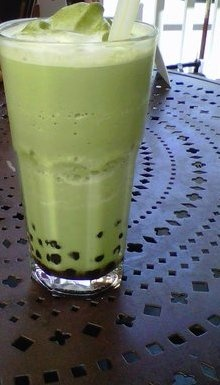 Urth Cafe Organic Green Tea Boba Blended. Long time fave. DTLA Urth is now walking distance to new work location!