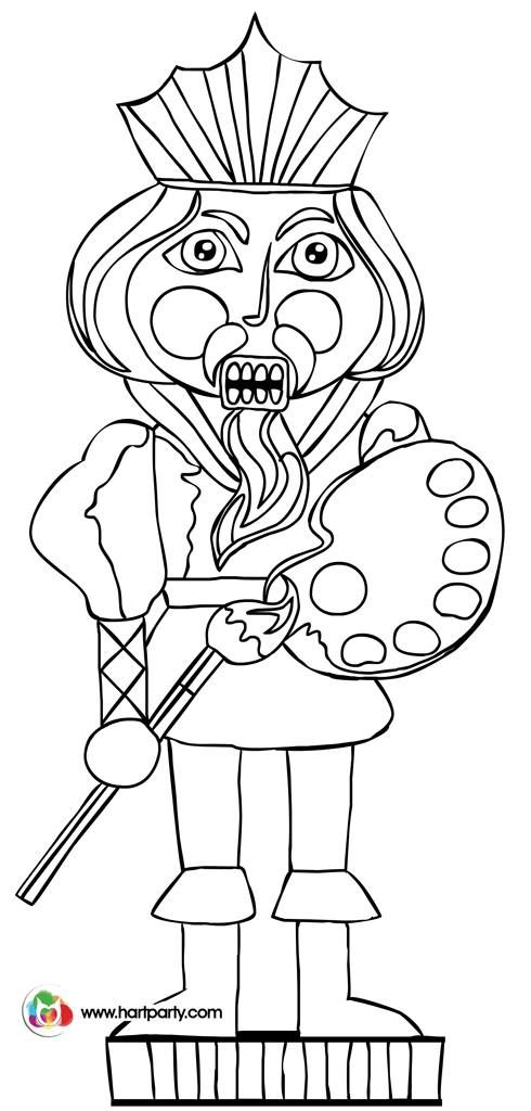 Artist Nutcracker Trace Able And Coloring Page For The Full Youtube Tutorial