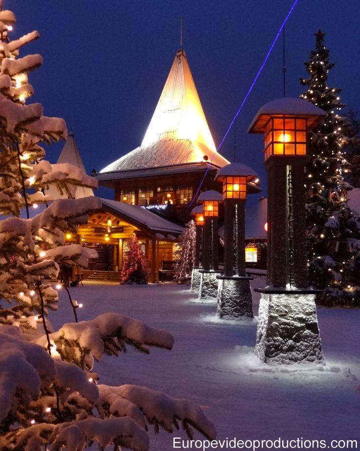 Weihnachtsmanndorf und Polarkreislinie in Rovaniemi in Lappland