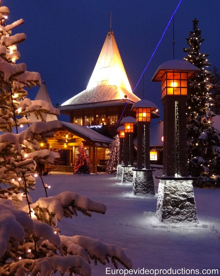 Santa Claus Village and Arctic Circle Line in Rovaniemi in Lapland