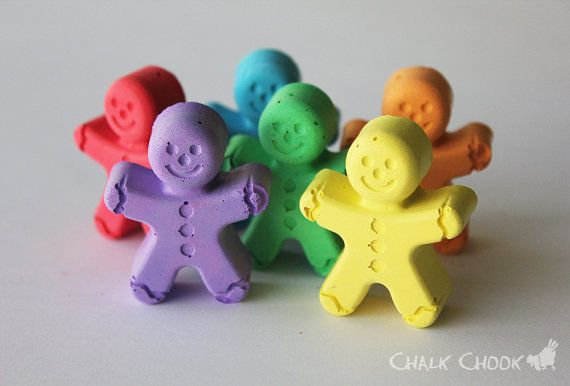Gingerbread Men  Set of 6  Gift Box by ChalkChook on Etsy, $9.95
