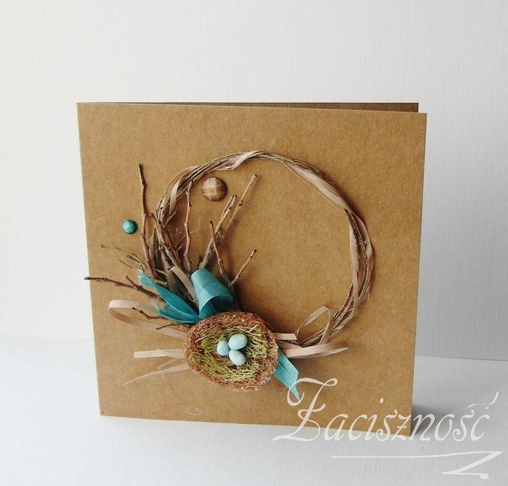 Ręcznie robiona kartka wielkanocna/ #handmade #card #Easter #craft