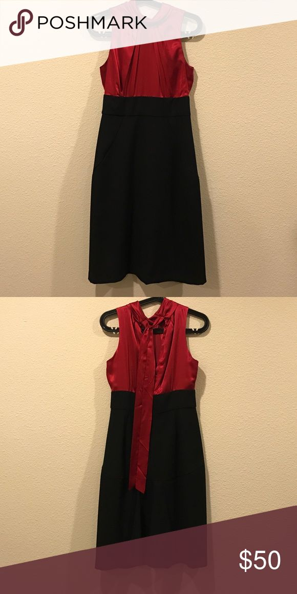 Donna Ricco colorblock dress Deep red silk tie back top with structured skirt dress. From Fashion and Frills blog. No trades. All offers to be made through the offer button only Donna Ricco Dresses